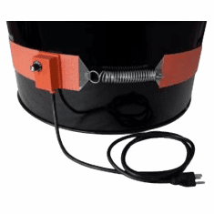 "55 Gallon Plastic Drum Silicone Rubber Drum Heaters,9"" Band"