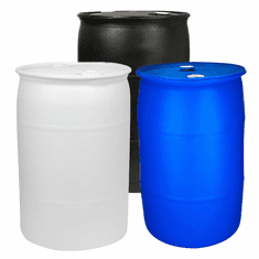 """55 Gallon Plastic Water Storage Barrel-NEW <font color=""""red"""">Free Shipping </font> 