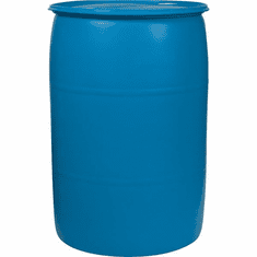 55 Gallon Used Plastic Water Barrel Or Rain Barrel | Blue or White