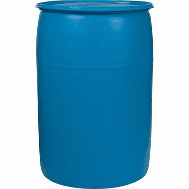 55 Gallon Used Plastic Water Barrel | Blue or White