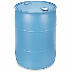 55 Gallon Used Plastic Water Barrel