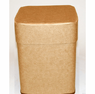 57.5 Gallon Square All-Fiber Corrugated Cardboard Drum With Corrugated Fiber Lid