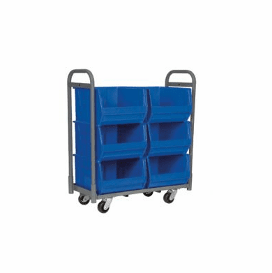 6 Bin Cart For Super-Size AkroBin® Holds Bin 830283, 900 Lb Capacity