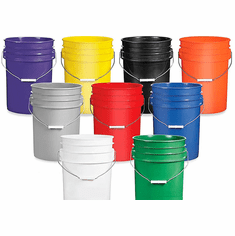 6 Gallon Plastic Buckets