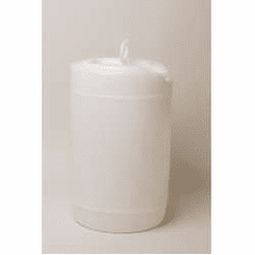 6 Gallon Round Closed-Head Plastic Jugs Natural Color, With Screw Cap