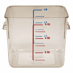 6 Quart Polycarbonate Rubbermaid Square Food Storage Containers