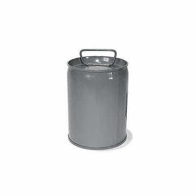 7 Gallon Epoxy Phenolic Tight-Head Steel Pails & Cans, Gray