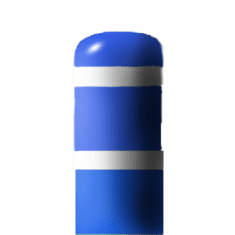 7inch I.D.x 60 inch H Post Bollard Blue sleeve w/white tape