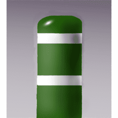 7inch I.D.x 60 inch H Post Bollard Green sleeve w/white tape