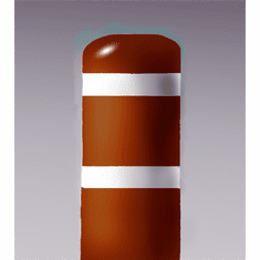 7inch I.D.x 60 inch H Post Bollard Red sleeve w/white tape