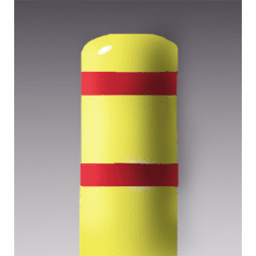 7inch I.D.x 60 inch H Post Bollard Yellow sleeve w/red tape