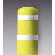 7inch I.D.x 60 inch H Post Bollard Yellow sleeve w/white tape