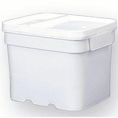8 gal.Square Ez Stor® Bucket Pail and lid,  recessed handle, 6 Pack | Included Reclosable Lids