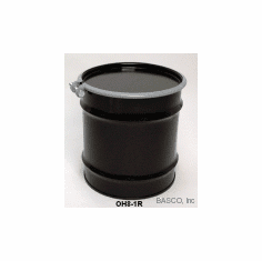 8 Gal Steel Drum Open-head-black