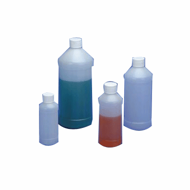 8 oz HDPE Modern Round Bottles,144 Pack