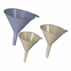 8 oz Low Cost Utility Funnels -The 8 oz and 12 oz funnels have been discontinued they are no longer manufacturing