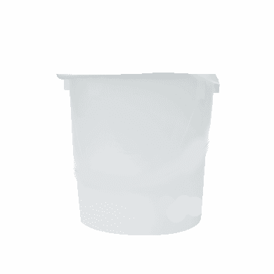 8 Qt Semi-Clear Poly Rubbermaid Round Food Storage Containers, 12pk