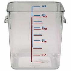 8 Quart Polycarbonate Rubbermaid Square Food Storage Containers
