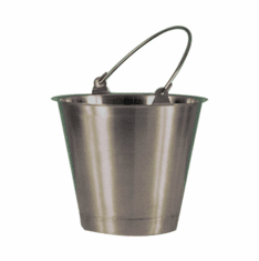 9 Quart,Stainless Steel Utility Pail,Standard Handle