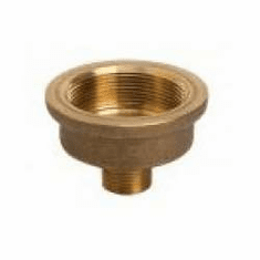 "Adapter, Verticle 3/4"" male npt inlet x 2"" female npt outlet, All Brass"