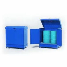 All-Steel Spill Containment Pallets Enclosed, 2-drum  1200 LB Capacity