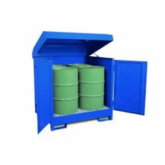 All-Steel Spill Containment Pallets Enclosed, 4-drum  2400 LB Capacity
