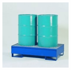 All-Steel Spill Containment Pallets Standard, 2-drum  1200 LB Capacity