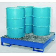 All-Steel Spill Containment Pallets,Standard, 4-drum  2400 LB Capacity