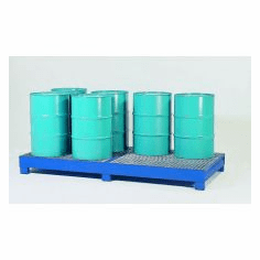 All-Steel Spill Containment Pallets Standard, 8-drum  4800 LB Capacity