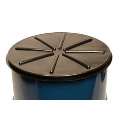 Black, 55 Gallon Tight-Head Polyethylene Drum Cover | Black Plastic