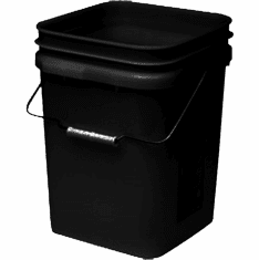 "Black Economy Square 4 Gallon Plastic Bucket, 18 Pack<br><font color=""#FF0000"">Free Shipping</font>"
