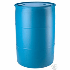 Blue 55 Gallon  Plastic Water Barrels Reconditioned, Free Shipping