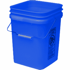 "Blue Economy Square 4 Gallon Plastic Bucket, 18 Pack<br><font color=""#FF0000"">Free Shipping</font>"