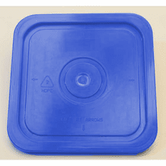 "Blue Lid for Square 4 Gallon Plastic Bucket, no Gasket,18 Pack<br><font color=""#FF0000"">Free Shipping</font>"
