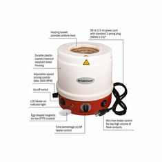 """Briskheat &#174;   HM Metal Housed Heating Mantles with Built in Controller and Magnetic Stirrer 