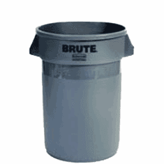 BRUTE Round Containers  without lid 32 gal - Gray