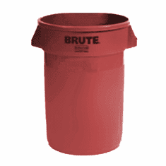 BRUTE Round Containers  without lid 32 gal - Red