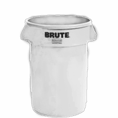BRUTE Round Containers  without lid 32 gal - White