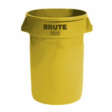 BRUTE Round Containers  without lid 32 gal - Yellow