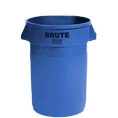 BRUTE Round Containers without lid 44 Gallon - Blue