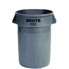 BRUTE Round Containers without lid 55 Gallon - Gray