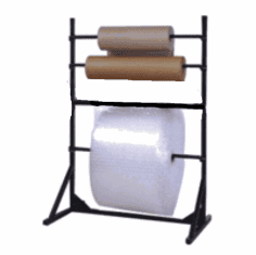 Bubble and Foam Wrap Storage Multiple roll stand without cutter 64""