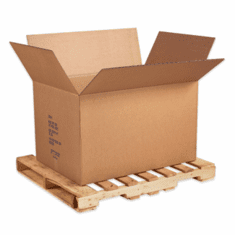 "Bulk Cardboard Corrugated Cargo Boxes 30"" x 17"" x 17"", 50 Count"