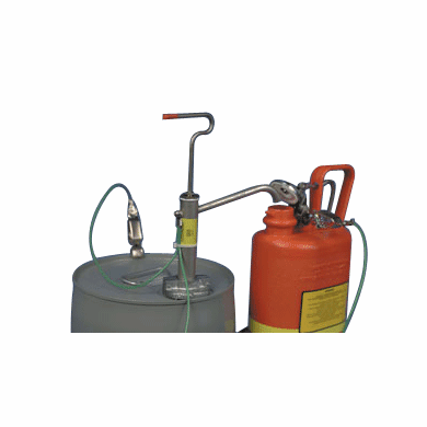 Carbon Steel Gallon Pail Pump-With Screw Cap Adapters