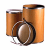 Cardboard Fiber Shipping Barrel - Open Head & Metal Chime