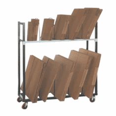 "Carton Rack Solutions Floor base with 5 dividers 44"" L x 18"" W x 26"" H"
