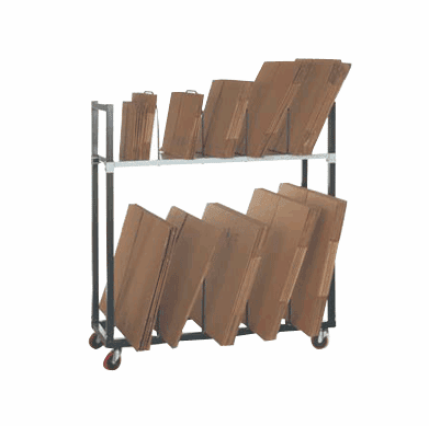 Carton Rack Solutions Three tier storage unit with caster