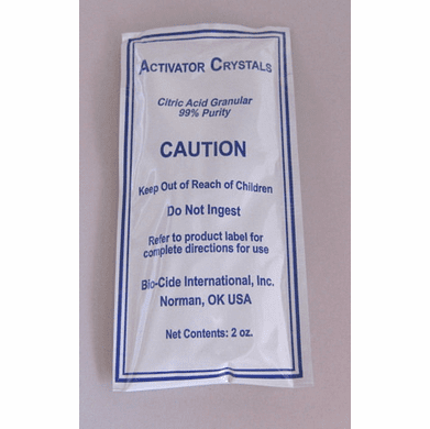 Citric Acid Crystals - 2 oz Packet | Used for Activating Purogene Water Treatment for System Sanitation <br> <font color=green>Free Shipping</font>