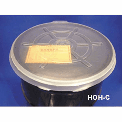 Clear, 55 Gallon Open-Head - Polyethylene Drum Covers