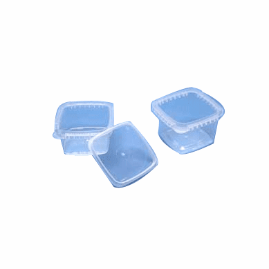 Clear 8 Oz IPL Square Container  900 Case Pack